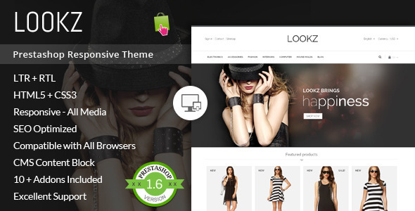 Lookz – Prestashop Parallax Template