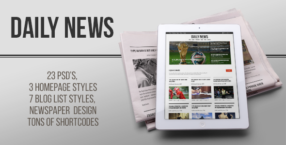DAILY NEWS – Minimal Blog & Portfolio Theme