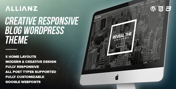 Allianz - Modern Responsive WordPress Blog Theme - Personal Blog / Magazine