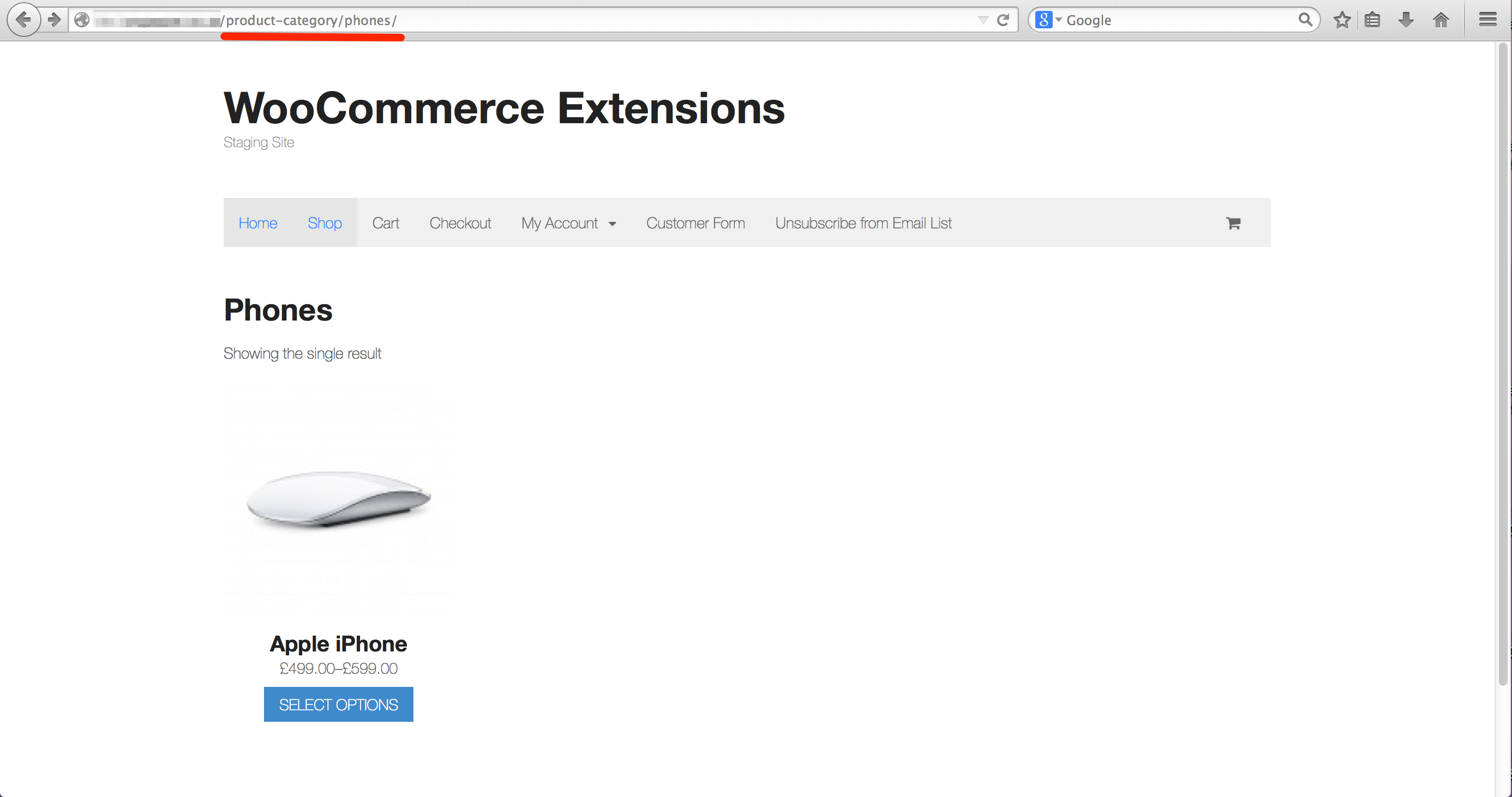 Woocommerce Condtional Shop Home Page
