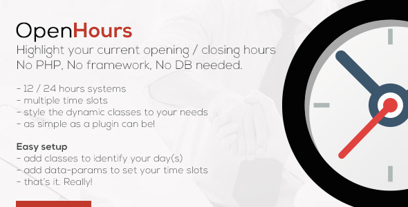 OpenHours - Highlight your Opening / Closing Hours - CodeCanyon Item for Sale