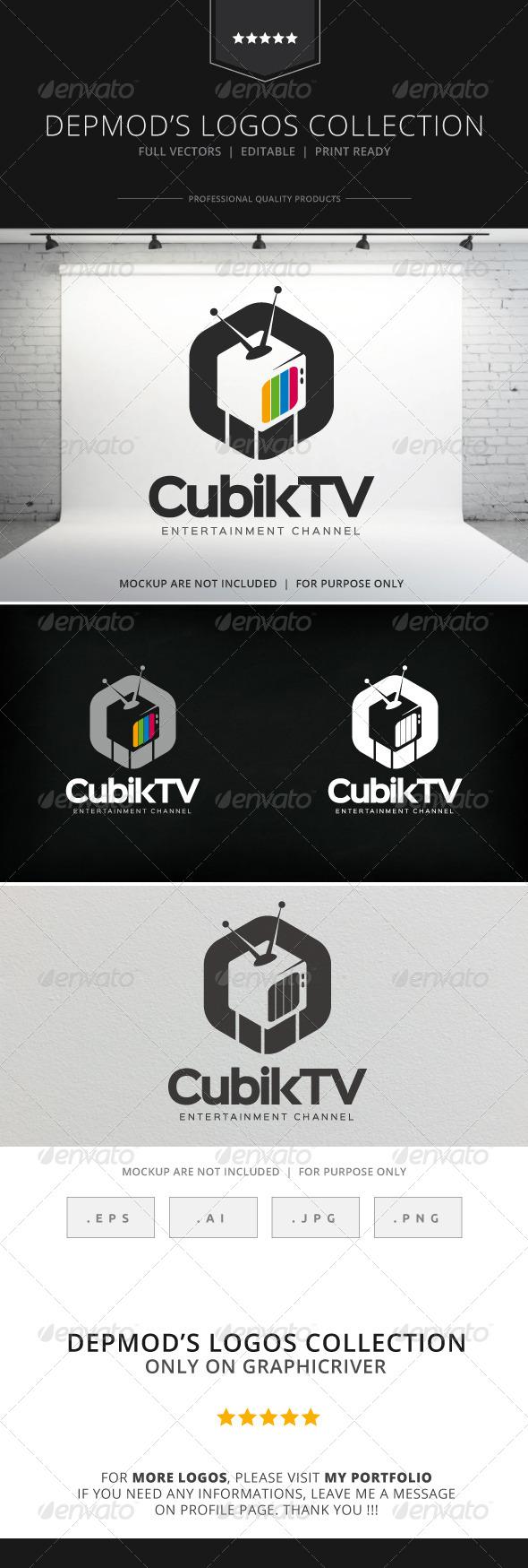 cubik tv logo by opaq