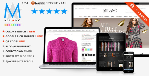Milano – Responsive Magento Theme + Blog Extension