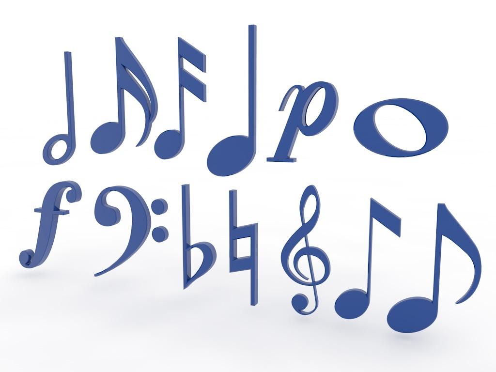 3D Music Symbols