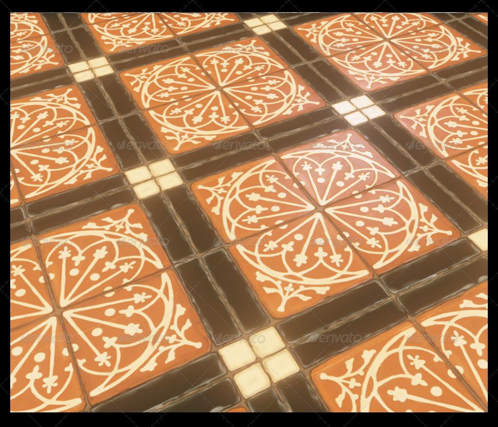 Medieval Floor Tiles by 3dmunkey | 3DOcean