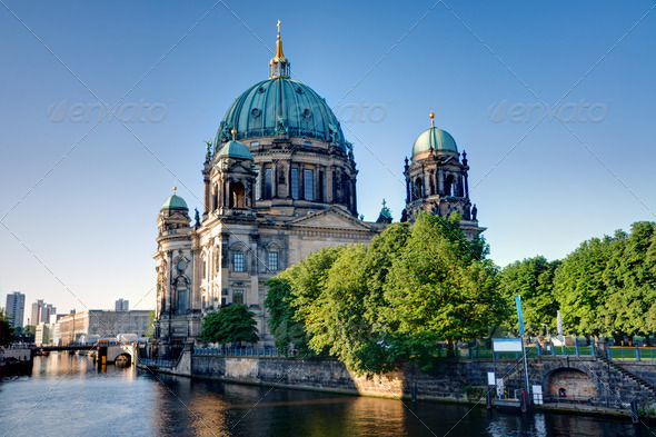 The backside of the Dom in Berlin - Stock Photo - Images