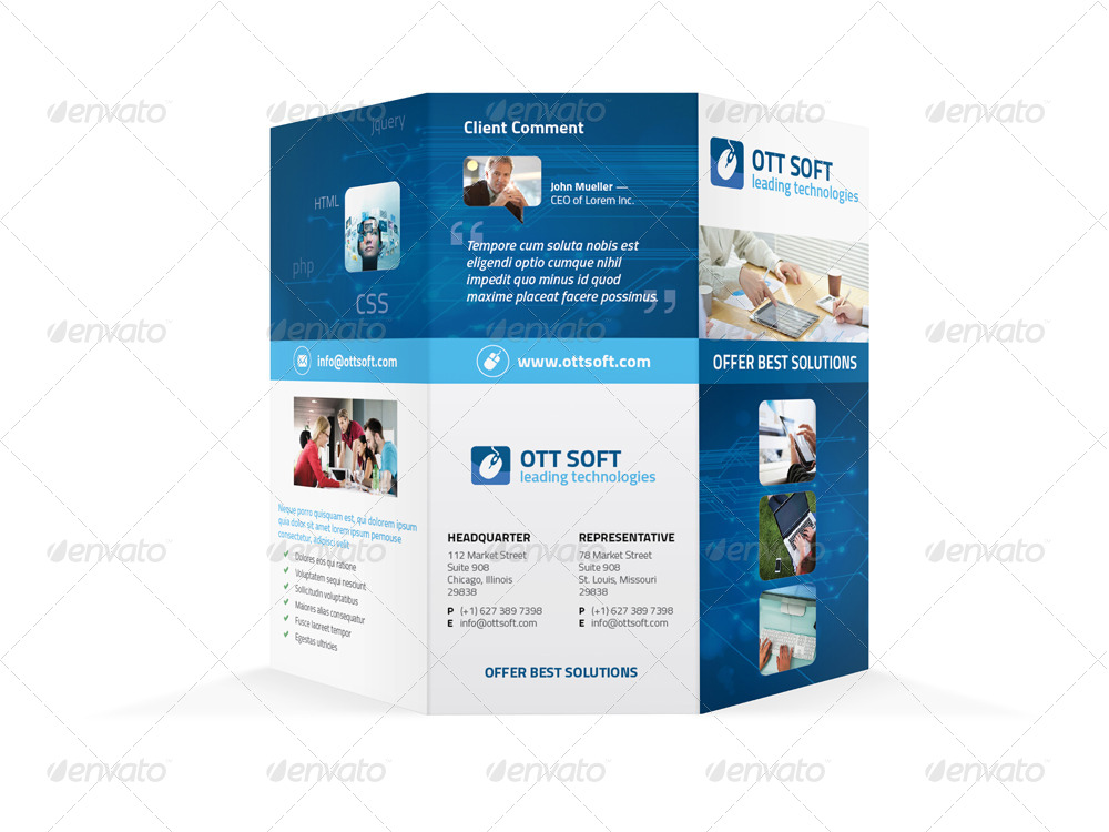 It And Software Trifold Brochure By Mike_Pantone | Graphicriver