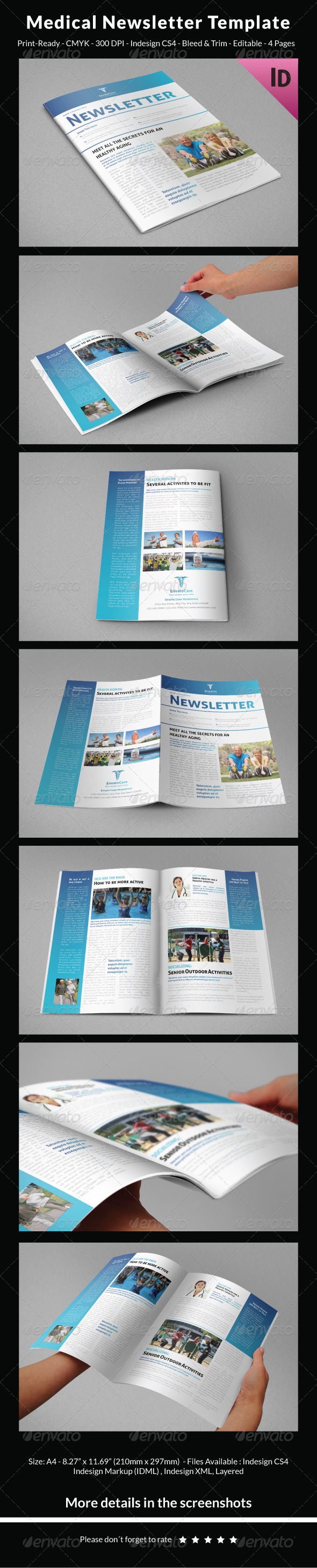 Medical Newsletter Template by carlos_fernando | GraphicRiver