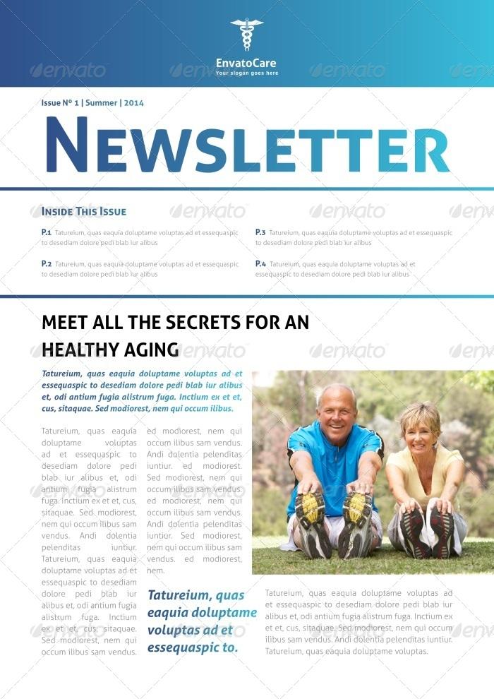 Medical Newsletter Design Templates