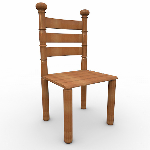 wood chaire - 3DOcean Item for Sale
