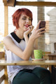 Cute hipster girl texting - PhotoDune Item for Sale