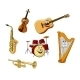 Set of Classic Musical Instruments - GraphicRiver Item for Sale