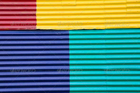Wall in La Boca, Buenos Aires - Stock Photo - Images