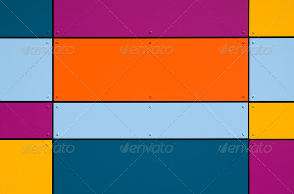 Colorful geometric facade - Stock Photo - Images