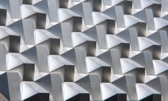 Modern silver facade - Stock Photo - Images