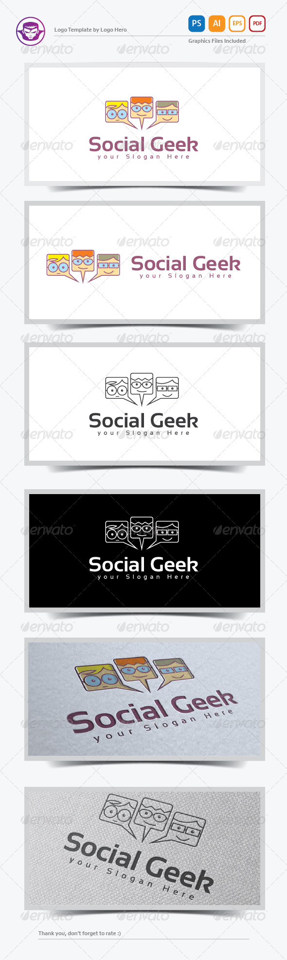 Social Geek Logo Template - Humans Logo Templates