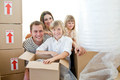 Loving family packing boxes - PhotoDune Item for Sale