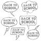Vector Set of Sketch Bubbles - Back to School.