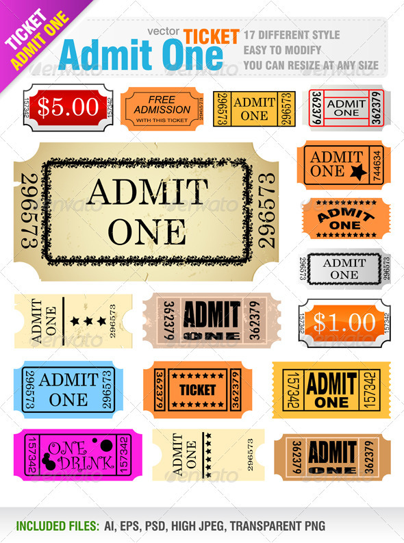 Tickets - Commercial / Shopping Conceptual