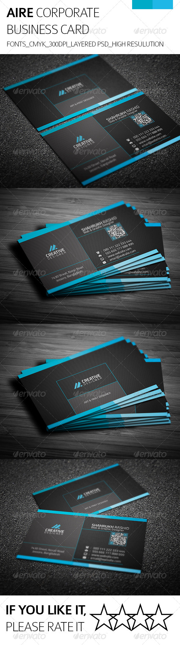 Aire & Corporate Business Card - Corporate Business Cards