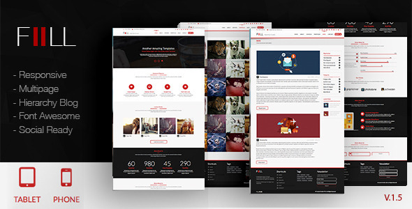 Fill | Adobe Muse Template