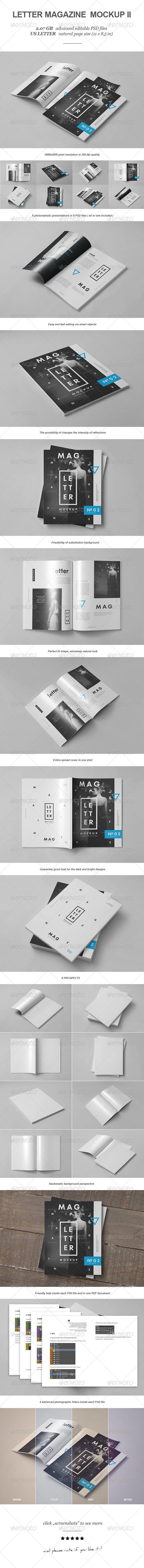 Letter Magazine / Brochure Mock-up II - Magazines Print