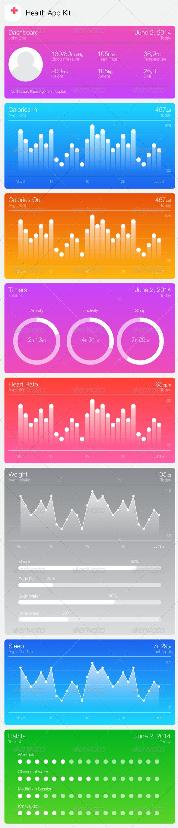 Health Kit App - Health/Medicine Conceptual