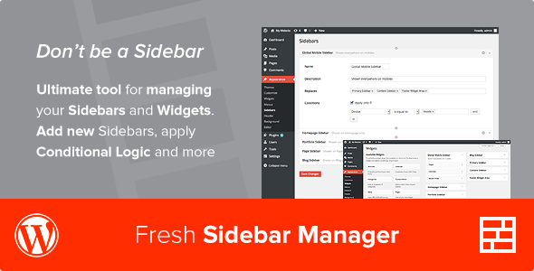 Custom Sidebar Manager - CodeCanyon Item for Sale