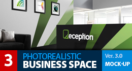 MOCK-UP LOGO 3D - BUSINESS SPACE