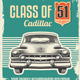 Vintage Retro Sign -  Cadillac Classic Car Poster - GraphicRiver Item for Sale