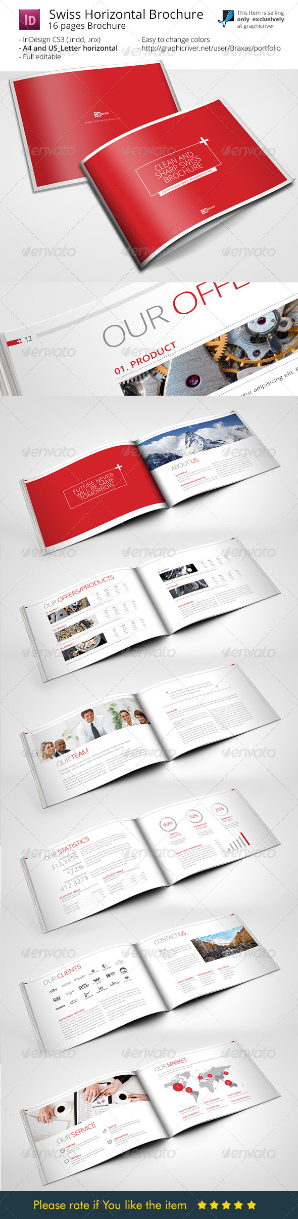 informational brochure template - swiss brochure template by braxas graphicriver