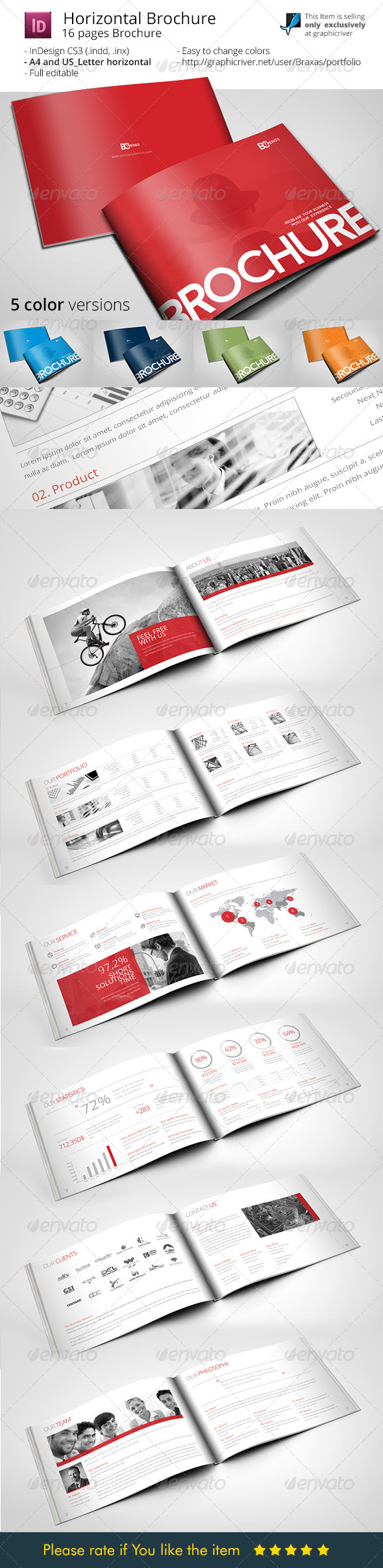 Business brochure horizontal by braxas graphicriver for Horizontal brochure template