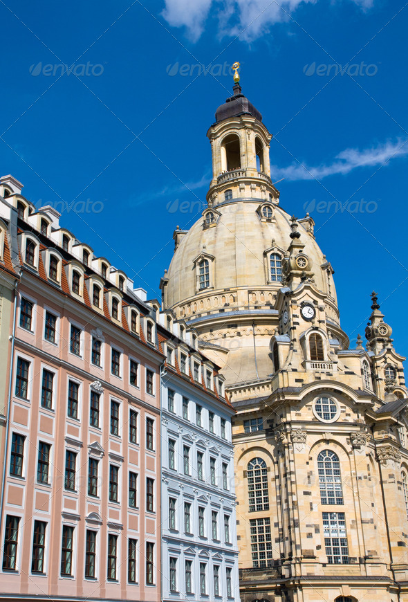 The Frauenkirche in Dresden - Stock Photo - Images