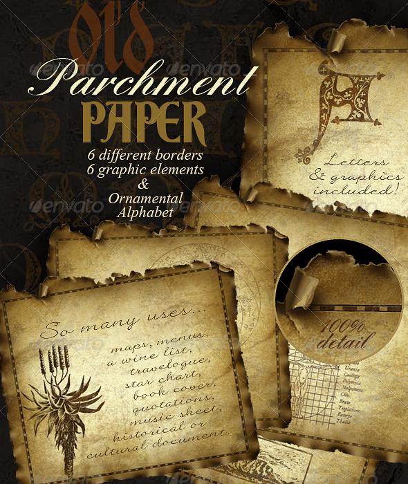Parchment Paper - Aged Parchment Background - Miscellaneous Backgrounds