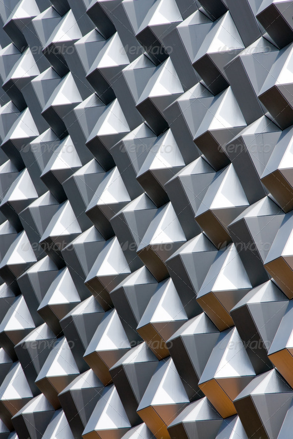 Modern comb-like facade - Stock Photo - Images