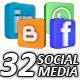 3D Social Media & Internet Icons (32-Pack) - VideoHive Item for Sale