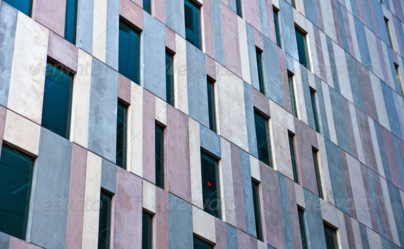 Concrete facade of an office building - Stock Photo - Images