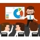 Lucky Businessman is Presenting a Round Diagram - GraphicRiver Item for Sale