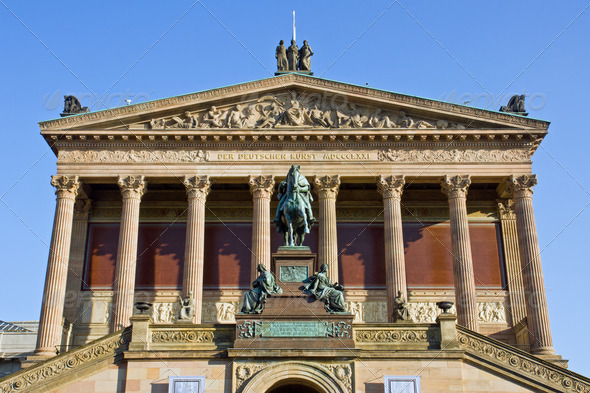 The Nationalgallery in Berlin - Stock Photo - Images