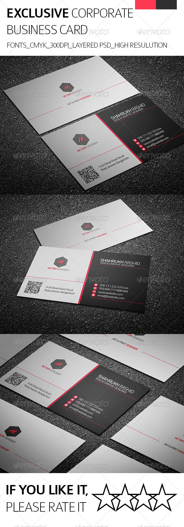 Exclusive & Corporate Business Card - Corporate Business Cards