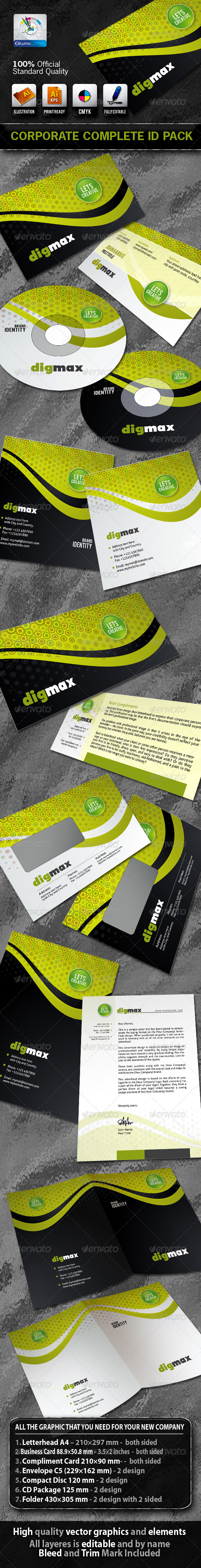 DigMax Business Corporate ID Pack - Stationery Print Templates