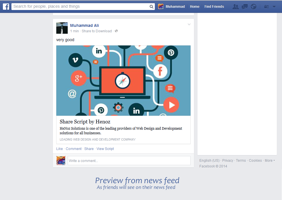 Facebook Share and Download Pro