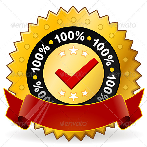 Satisfaction Warranty Label - Decorative Symbols Decorative