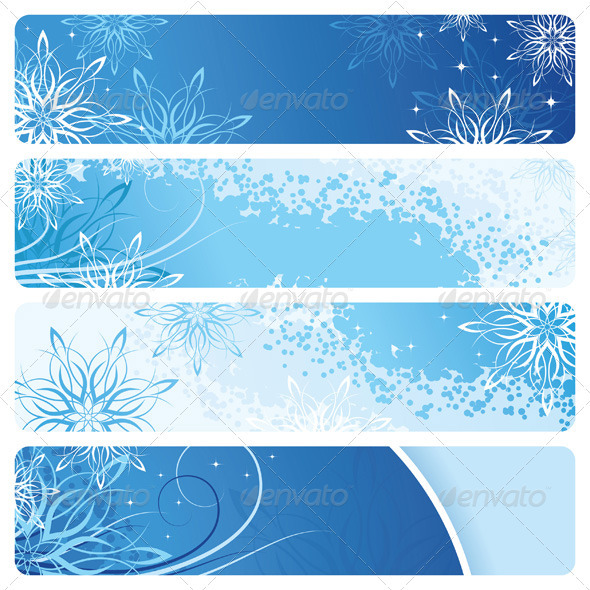 Blue Banners - New Year Seasons/Holidays