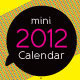 2012 Mini Calendar Template - GraphicRiver Item for Sale