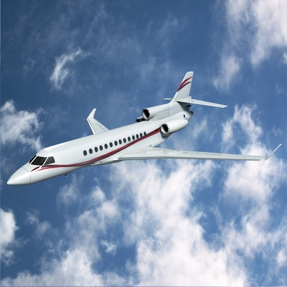 Dassault Falcon 7x business jet - 3DOcean Item for Sale
