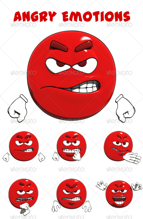 Angry Emotions by GBREAL | GraphicRiver