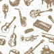 Music Instruments Pattern - GraphicRiver Item for Sale