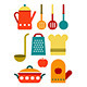 Colorful Kitchen Utensil Set - GraphicRiver Item for Sale
