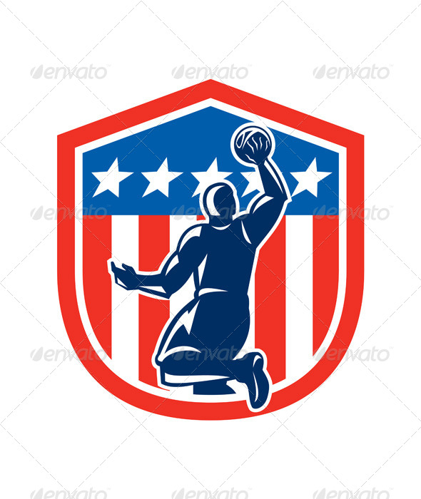 American Basketball Player Dunk Shield